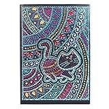 Diamond Art Notizbücher-Set, DIY Katze spezielle geformte Diamantmalerei, 50 Seiten, A5 Notizbuch Skizzenbuch