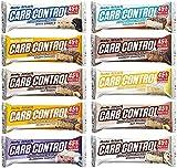 Body Attack Carb Control Mix Box, Proteinriegel ohne Zuckerzusatz, Low Carb – High Protein 45%, Eiweißriegel mit Whey, Made in Germany, Mix-Box (10 x 100g)