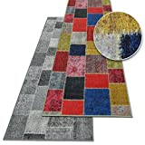 Teppich-Läufer auf Maß Monsano | Moderner Wohnteppich für Flur, Küche, Schlafzimmer | Meterware, viele Größen | rutschfest, robust & pflegeleicht (Anthrazit, 80 x 150 cm)