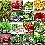 Samen Gemüse Set'indoor-Mix' - perfektes Saatgut (100% Natursamen) für Balkon, Gewächshaus, Wohnung, Terasse, Fensterbank - nahezu 100%