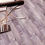 Meclelin PVC Selbstklebend Bodenbelag Holzoptik Wandtattoo Aufkleber Klebstoff Fliesen Kunst Boden DIY Küche Badezimmer Dekor 20x50cm (J)