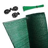 CoverUp! Sichtschutz Zaun 1,5 x 25 m grün [160 g/m²] ideal für Zäune und Balkongeländer - hochwertiger Zaun Sichtschutz inkl. 100 Kabelbinder und 50 Clips