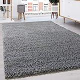 Paco Home Hochflor Shaggy Langflor Teppich versch. Farben u. Grössen TOP Preis NEU*OVP, Grösse:160x220 cm, Farbe:Grau