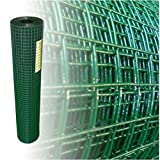 Volierendraht Grün Höhe 100 cm 4-Eck verzinkter Stahl Drahtgitter Maschendraht (100cm x 25m, 1,20mm dick)