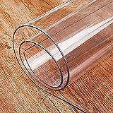 Klarer PVC-Tischdeckenschutz1,5 mm starker durchsichtiger Kunststoff-Tischdeckenbezug Abwischbare PVC-wasserdichte Tischschutzmatte Transparente Tischdecke 80x60 cm für Esszimmermöbel-Oberfläche,