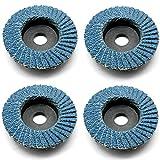 4x Fächerscheiben Körnung 80 Schleiffächer 50 x 10mm Lamellenschleifer Schleifscheiben Kompatibel für Proxxon WPE LWS, LHW LHW/