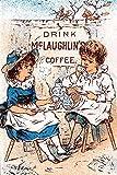 Eine viktorianische Werbekarte zeigt Kinder, die eine Kaffeeparty statt einer Teeparty zeigt, Posterdruck von unnown (24 x 36)