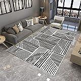 ZAZN Geometrische Teppiche, Dekoratives Wohnzimmer, Couchtisch, Fußmatten, Kinderspielzeugzimmer, Rutschfester Und Verschleißfester Rechteckiger Teppich