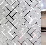 LMKJ Geometrischer Glasfilm elektrostatischer Aufkleber PVC-Wärmekontrolle mattierter Aufkleber, undurchsichtiger Sichtschutzglasfilm A88 40x200cm
