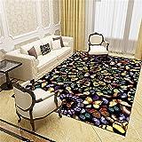 Abstrakte Linien Wohnzimmer- Und Schlafzimmerteppiche, Nachtmatten, Sofa-Teppiche, Büromatten 100 x 150cm