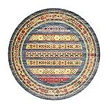 Nichtrutschmaschine Waschbarer Teppich für Wohnzimmer Schlafzimmer Teppich, Runder Vintage Boho Accent Teppich, moderner Mandala-Area-Teppich, leicht zu reinigen-an-Phi;: 250 cm (98,42 Zoll) MISU