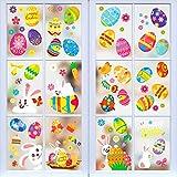 Xionghonglong Oster Sticker,10pcs Aufkleber zu Ostern,Ostereier Fensterdekoration,Oster-Fensterbilder,Fenstersticker Aufkleber Ostern,Ostern Dekorationen,Fensterdekoration Ostern
