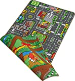 Duoplay 100x190 A4 Wende-Spielteppich, City oder F