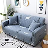 Waldelche High Stretch Sofabezug 4 Sitzer Moderne Sofaüberwurf rutschfest Stretch Husse für Sofa Elastische Sofahusse für Wohnzimmer Protector für Hunde Haustiere