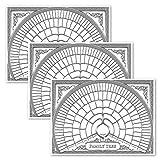 3 Stück – Stammbaum-Diagramm zum Ausfüllen der 6. Generation, Ahnentafel, blanko, befüllbar, Vorfahrtskarte [Version 2] (45,7 x 61 cm)