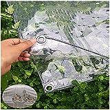Uoocon wasserdichte Abdeckplane Transparent 4×5m Glas Transparente Plane Abdeckplane PVC-kunststoffplane Für Terrasse für Pavillon, Terrassen, Windschutz, Außenb