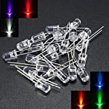 LED-Leuchtdiodenlampe, 5 mm, Weiß, Rot, Blau, Grün, Gelb, Violett, 120 Stück