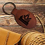 elbedruck Schlüsselanhänger Tischler mit Gravur Zunftzeichen Zunftsymbol für alle Schreiner und Holzverarbeiter Zunftwappen (rot-braun)