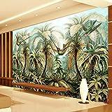 HGFHGD Selbstklebende 3D-Wandtapete Große Wandmalerei Pflanze Vogel Wohnzimmer Sofa Hintergrund Tapete Wandaufkleber Wandkunst