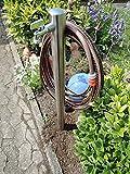 Wasserzapfstelle Edelstahl Wasserzapfsäule Wasserverteiler mit Schlauchhalter 85cm WS4885SH