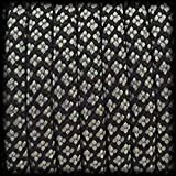 Paracord 550 Seil Diamond für Armband, Leine, Halsband, Polyester-Seil 30 Meter, Farbe: dunkelgrau-schwarz
