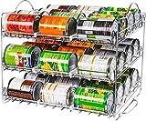 KICHLY Stapelfähiges Dosenregal, stapelbares Dosenregal für bis zu 36 Dosen für Küchenschrank oder Speisekammer - C