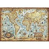 EastMetal Alte Weltkarte Puzzle Panorama 2000 Teile,97x69cm / 38x27in Puzzle Spiele für Kinder Lernspielzeug Puzzles