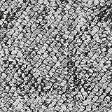 Pireo Schlingen-Teppichboden in der Farbe Grau | weiche & strapazierfähige Auslegeware | zugeschnittener Bodenbelag | Meterware in der Größe 250 x 400 cm | gemütliche Tepp