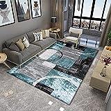 SunYe Moderner, Einfacher, Dicker, Doppelschichtiger Wohnzimmerteppich, rutschfeste, Haltbare Büro-Fußmatten, Waschbarer Haustier-Teppich, Können Für Schlafzimmer-Nachtmatten Und Fußmatten Verw