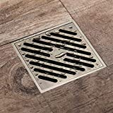 BAIVIT Grid Large Flow Bodenablauf, quadratische Kupfer Duschraum Abflussfilter Deodorant Anti-Verstopfung Badezimmer Küche,B