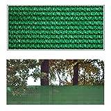 Helo 'G5' Sichtschutznetz Zaunblende 5 m Länge x 1 m Höhe (grün) aus HDPE Gewebe, hoch reißest, witterungs- und UV-beständig, ideal als Sichtschutz, Windschutz, Staubschutz oder Sonnenschutz Netz