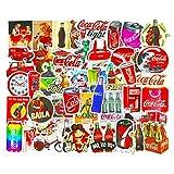 Coca Cola Aufkleber, Vintage-Logo, für Wasserflaschen, Skateboard, Laptop, Gepäck, Handy, Notebook, Fahrrad, Motorrad, Vinyl, 50 Stück