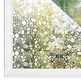 Kleberfreie Sichtschutz-Fensterfolie, Vinyl-Glasaufkleber, geeignet für Bad, Küche, Wohnzimmer, Balkon, Schlafzimmer M 40x100cm