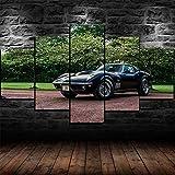 183Tdfc Mit Rahmen Leinwanddrucke 5 Teilig Wandbild Panel Malerei Leinwand 1969 Corvette Stingray C3 Modern Wohnzimmer Schlafzimmer Wand Dekoration Wohnkultur 150 * 80cm