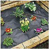 KHUY Premium Wurzelvlies Unkrautvlies für Erdbeeren Pflanzen Miscanthus Mulch, Gartenvlies Wasserdurchlässig Bodengewebe Unkrautfolie Permeabilität Gut Rasenkante Kunststoff (Size : 1x20m)