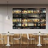 murimage Fototapete Küche 183 x 127 cm inklusive Kleister Bar Cocktail Whiskey Drinks Cognac Regal Getränke Tap
