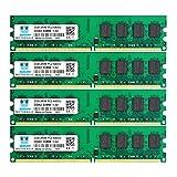 motoeagle DDR2 800 MHz UDIMM PC2-6300 PC2-6400U 8GB Kit (4x2GB) 1.8V 2Rx8 240-pin DIMM Desktop Arbeitsspeicher