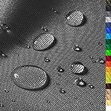 1buy3 'Monaco Wasserdichter Polyester Stoff | 12.000 mm Wassersäule | Farbe 18 | Graphit | Polyester Stoff 160cm breit Meterware wasserdicht Outdoor extrem reissfest
