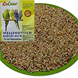 LuCano Wellensittich Futter   Vogelfutter   Wellensittichfutter (Gold Mix mit Früchten, 5 kg)