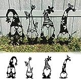 Gartenzwerge, Stahl-Zwerge, Dekoration, niedliche stehende Silhouette für Haus, Garten, Hof – #2