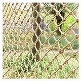 DELIMITE Schwerlast Hanf Seil Cargo Net, Balkon Schutznetz für Kinderspielzeug Haustiere, Spielplatzgeländer Dekorative Zäune Indoor Wandbehänge Dekoration (Size : 2 * 10m(7 * 33ft))