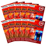 M&H-24 Wärmepflaster bis 12h für Rücken, Nacken, Bauch - Wärmekissen Wärmepads Rückenwärmer Nackenwärmer Wellnesprodukt für Massage & Entspannung Selbstklebend S