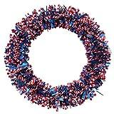 XIXISA Kranz und Veteranen Tag Dekoration Unabhängigkeitstag Pentagramm Kranz Patriotischer Kranz für Haustü