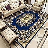 Oukeep Wohnzimmerteppich Im Europäischen Stil, Rutschfestes Heimsofa, Couchtischmatte, Schlafzimmer, Großflächig Bedruckte Bodenmatte, Nachtdecke