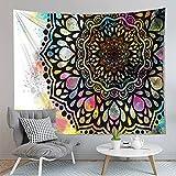 PPOU Mandala Farbe kreative Tapisserie Wandbehang böhmischen Stil Heimtextilien Hintergrund Stoff hängen Stoff A11 150x200cm