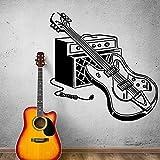 E-Gitarren Instrument Wandtattoo Rock Pop Musikinstrumente Wandaufkleber Bar Musikstudio Dekoration Wandkunst A5 57x57