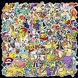 KEJIA Pokemon Cartoon wasserdichte Computer-Handy-Roller-Schreibwaren-Aufkleber 100 Blatt