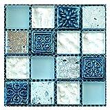 20 teile/satz DIY wasserdichte selbstklebende 3D □ Wandaufkleber Mosaikfliesen Aufkleber (Color : 05)