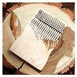 FXBXYLQ Tragbar 17-Key Thumb Piano hochwertiges hölzernes menschliches Instrument Piano kreativ Musikalisches Geschenk (Color : Moonlight Silver)