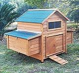 Zoopplier Hühnerstall Hühnerhaus Chickenhouse Nr. 02'Gluckshaus mit legebox und W